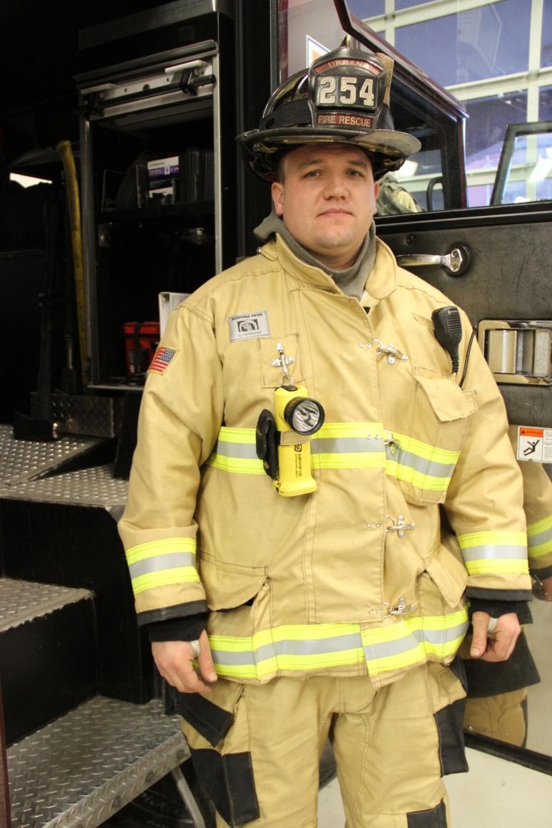 Firefighter Mike Jannusch