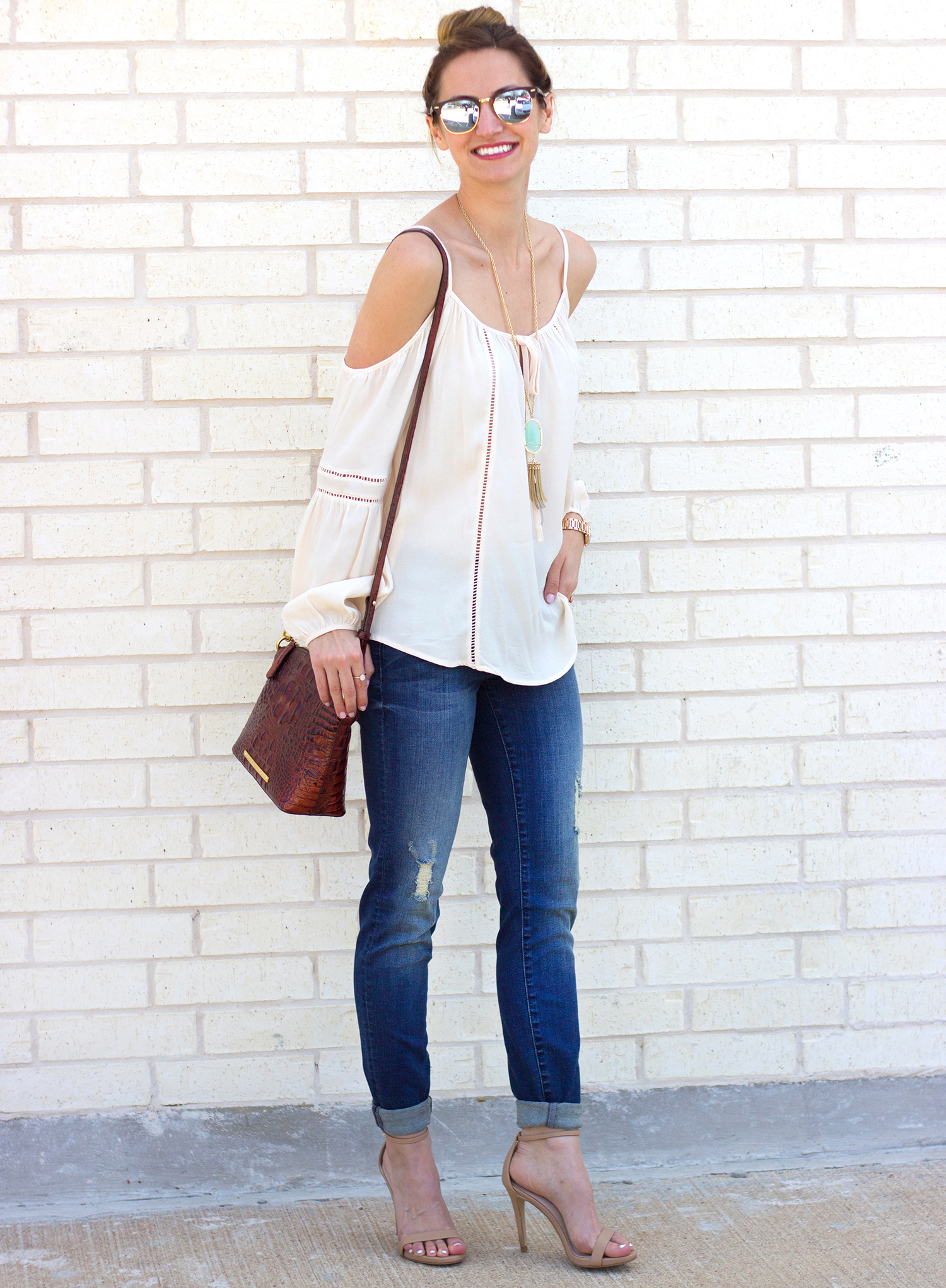 621f4aa6e8c 1-livvyland-blog-olivia-watson-austin-texas-fashion-blogger-kut-against-the-kloth-skinny-jeans-cream-nude-cold-shoulder-off-top-spring-nordstrom-stecy-heels  ...