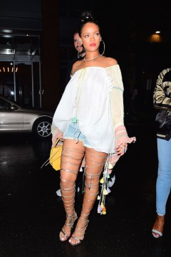 EXCLUSIVE: Rihanna Shows Off Her Endless Legs while Hitting the Club in NYC