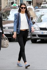 kendall-jenner-street-style-blue-jacket-white-top-black-jacket