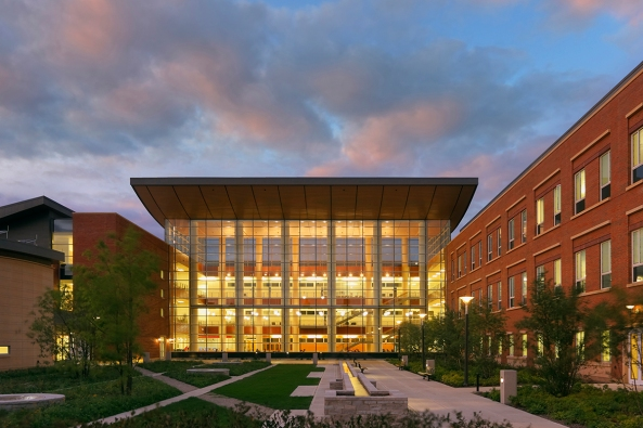 University of Illinios, Business Instructional Facility, Location: Champaign IL, Architect: Pelli Clarke Pelli Architects