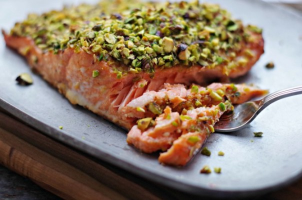 pistacho crusted salmon