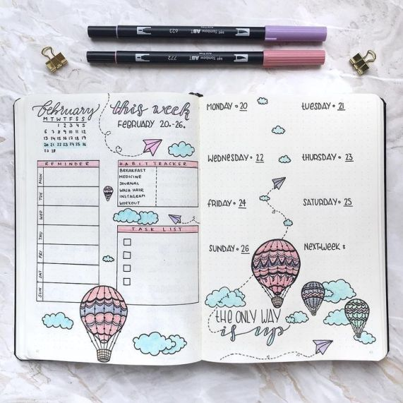 bullet journal-creative