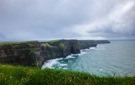 Cliffs left